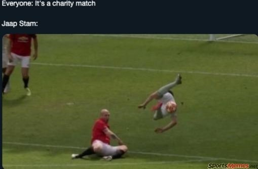 Player - Everyone: It's a charity match Jaap Stam: SPorts Memes net