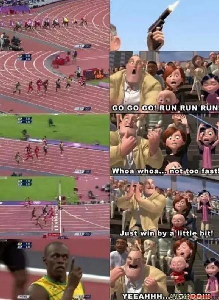 Athlete - GO GO GO! RUN RUN RUN Whoa whoa... not too fast! Just win by a little bit! YEEAHHH.. OHOO