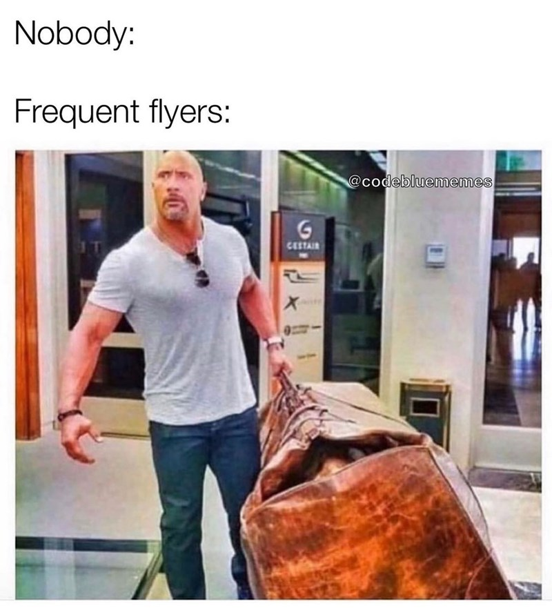 Shoulder - Nobody: Frequent flyers: @codebluememes CESTAIR