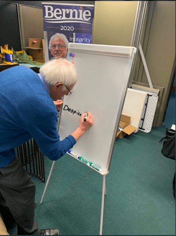 Table - Bernie 2020 Integrity Despite