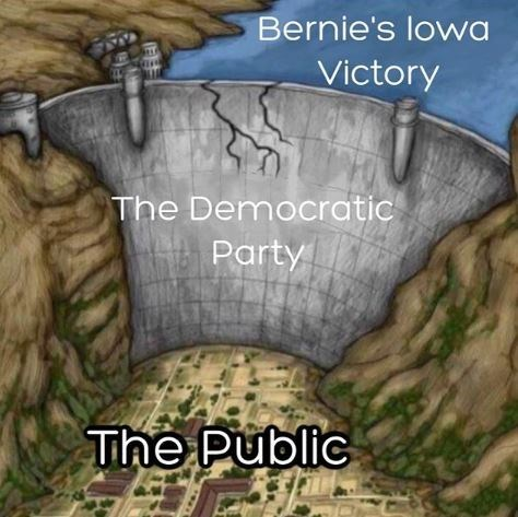 Rock - Bernie's lowa Victory The Democratic Party The Public
