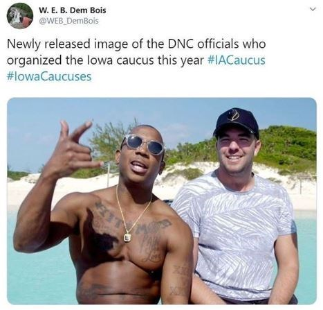 Vacation - W. E. B. Dem Bois @WEB_DemBois Newly released image of the DNC officials who organized the lowa caucus this year #IACaucus #lowaCaucuses EIT