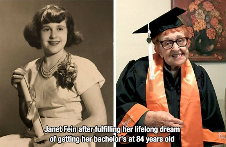 Eyewear - Janet Fein after fulfilling her lifelong dream of getting her bachelor's at 84 years old