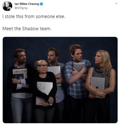 Product - lan Miles Cheong @stilligray I stole this from someone else. Meet the Shadow team. AMOLS