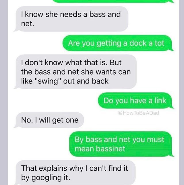 """Text - I know she needs a bass and net. Are you getting a dock a tot I don't know what that is. But the bass and net she wants can like """"swing"""" out and back Do you have a link @How ToBeADad No. I will get one By bass and net you must mean bassinet That explains why I can't find it by googling it."""