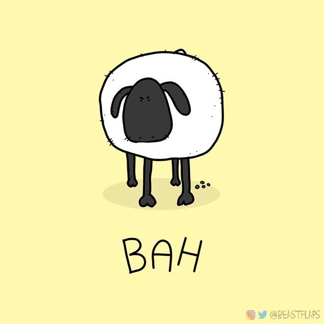 Cartoon - BAH @BEASTFLAPS