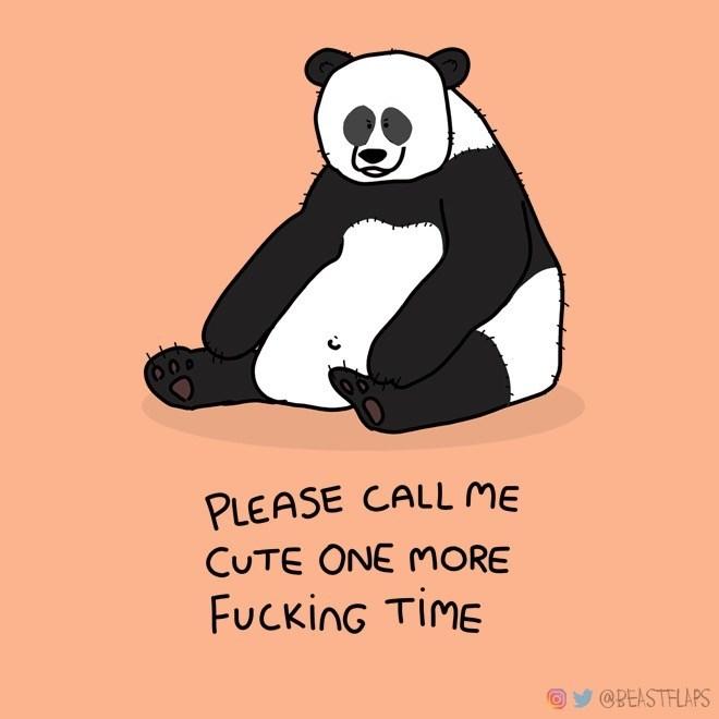 Panda - PLEASE CALL ME CUTE ONE MORE FUcking TIME @PEASTFLAPS