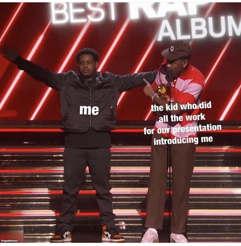 Performance - BEST ALBUM the kid who did all the work for our presentation introducing me me @ogoddfuture