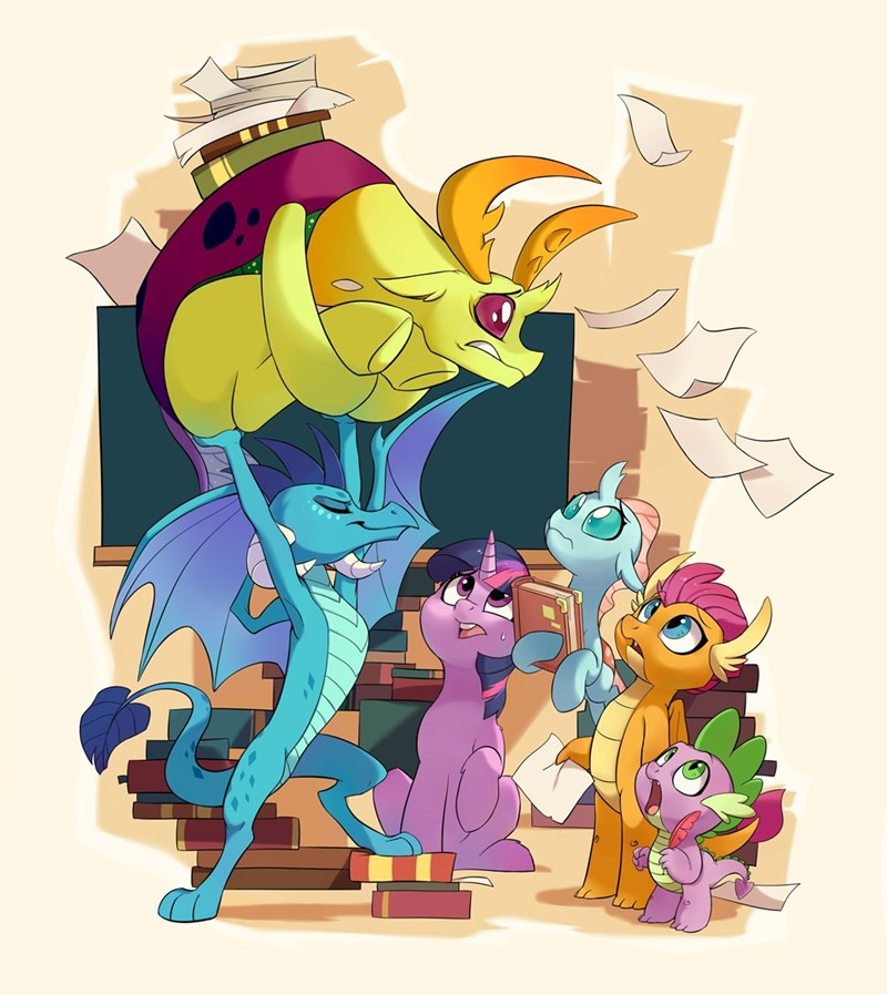 dragon spike thorax twilight sparkle smolder ocellus princess ember changelings drtuo4 - 9435988480