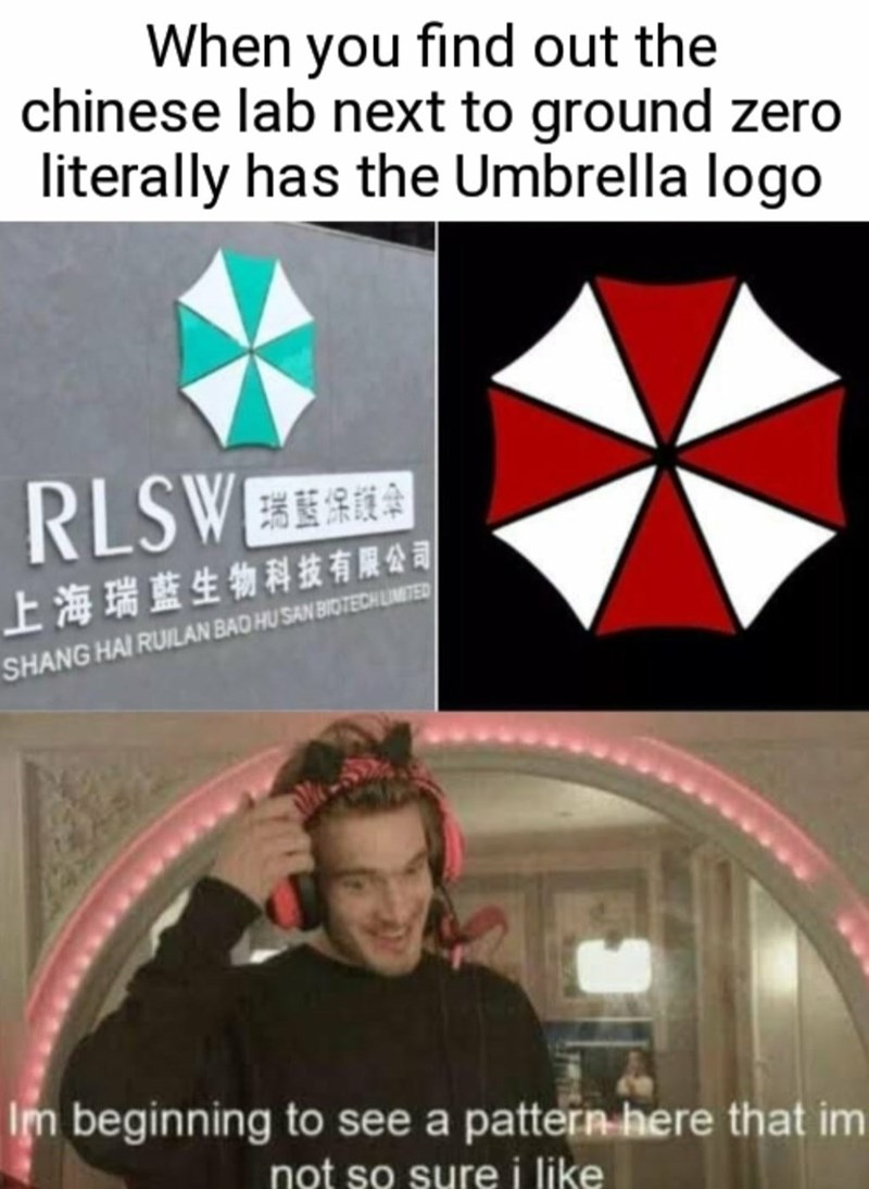 Font - When you find out the chinese lab next to ground zero literally has the Umbrella logo RLSWEE 上海瑞蓝生物科技有限公司 SHANG HAI RUILAN BAD HU SAN BIOTECHUMITER Im beginning to see a pattern here that im not so sure i like
