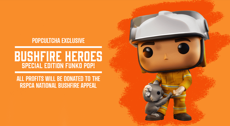 Cartoon - POPCULTCHA EXCLUSIVE BUSHFIRE HEROES SPECIAL EDITION FUNKO POP! ALL PROFITS WILL BE DONATED TO THE RSPCA NATIONAL BUSHFIRE APPEAL