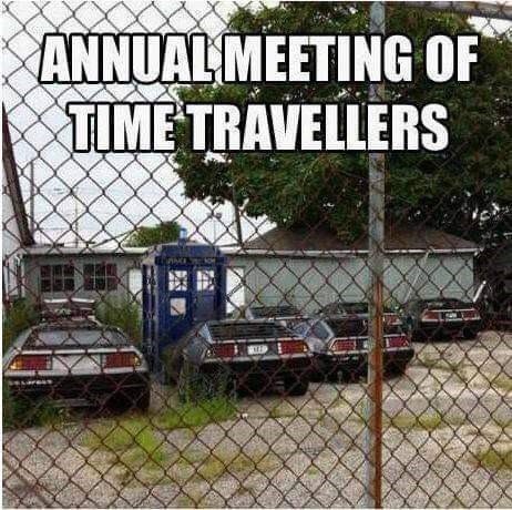 Motor vehicle - ANNUAL MEETING OF TIME TRAVELLERS