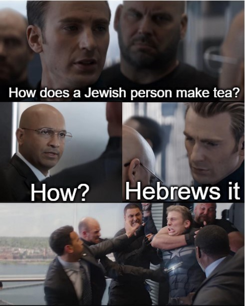 Facial expression - How does a Jewish person make tea? Hebrews it How?