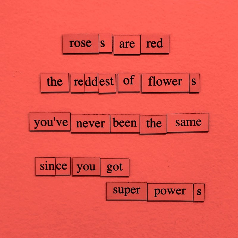 Text - rose s are red the reddest of flower s you've never been the same since you got super power s