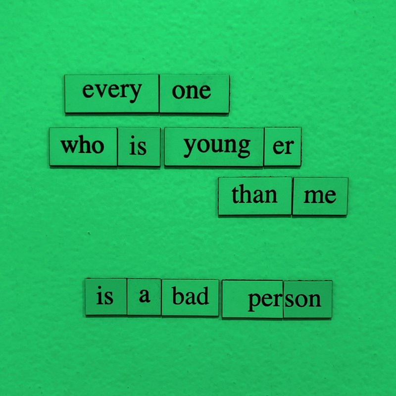 Green - every one who is young er than me is a bad person