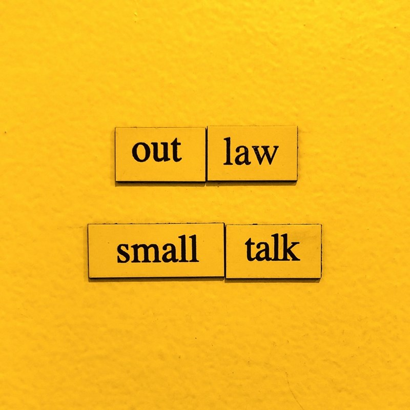 Text - out law talk small