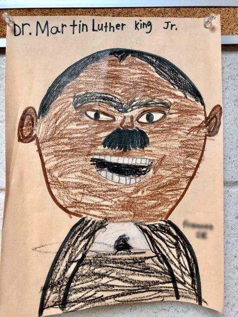Text - Cartoon - br. Martin Luther king Jr.