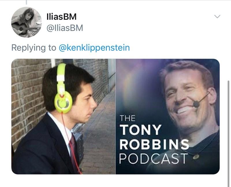 Text - IliasBM @lliasBM Replying to @kenklippenstein THE TONY ROBBINS PODCAST