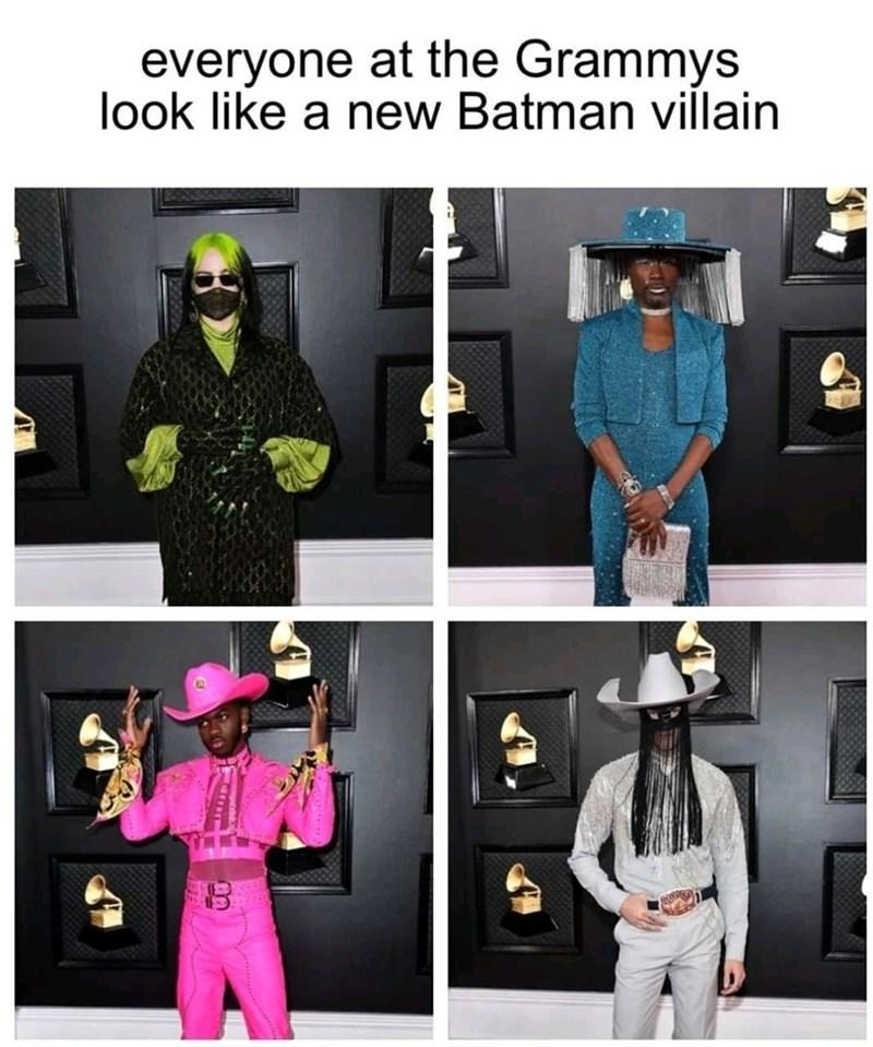 Clothing - everyone at the Grammys look like a new Batman villain