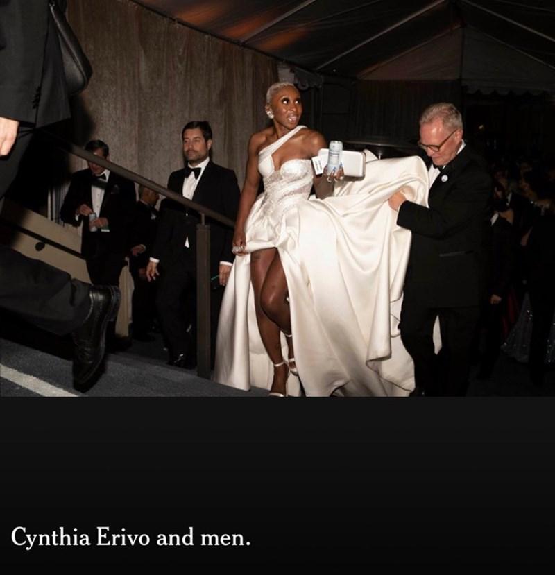 Photograph - Cynthia Erivo and men.