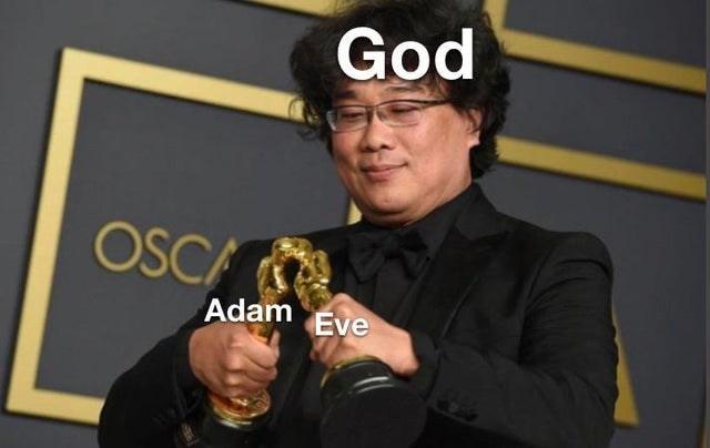 Brass instrument - God OSCA Adam Eve