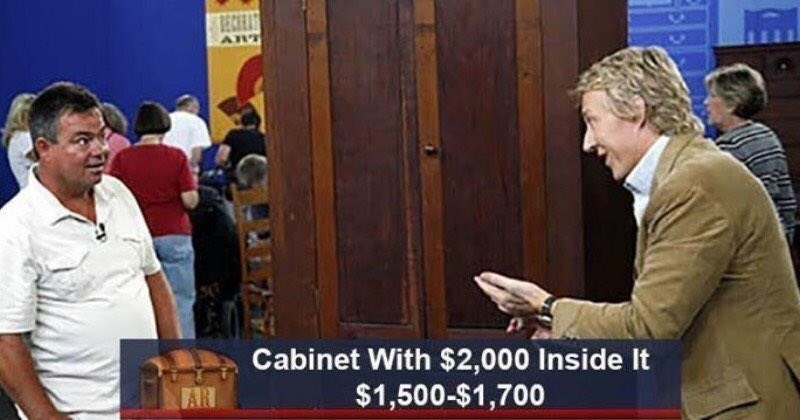 Conversation - HECHEAS ART Cabinet With $2,000 Inside It $1,500-$1,700 FAR
