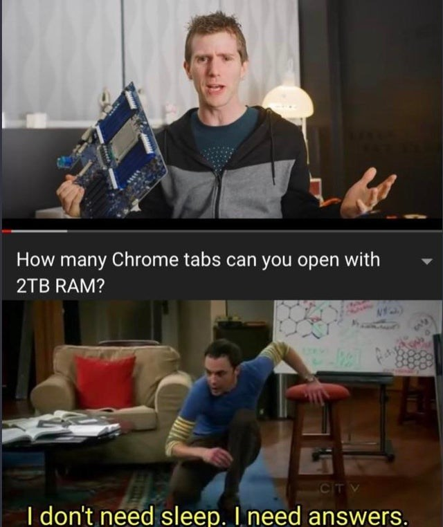 Arm - How many Chrome tabs can you open with 2TB RAM? CIT V I don't need sleep. I need answers.