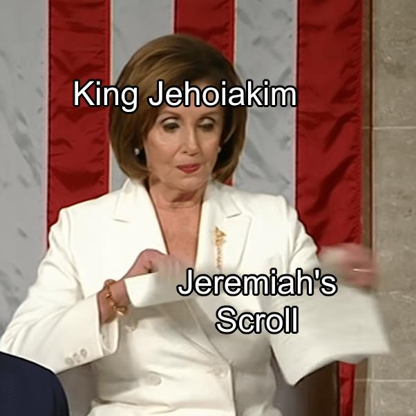 Photo caption - King Jehoiakim Jeremiah's Scroll 929