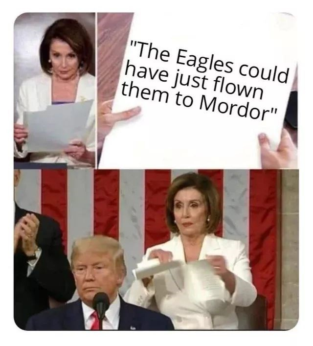 """People - """"The Eagles could have just flown them to Mordor"""""""