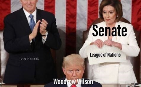 Event - Senate League of Nations A? USAHISTOI MEMES Woodrow Wilson