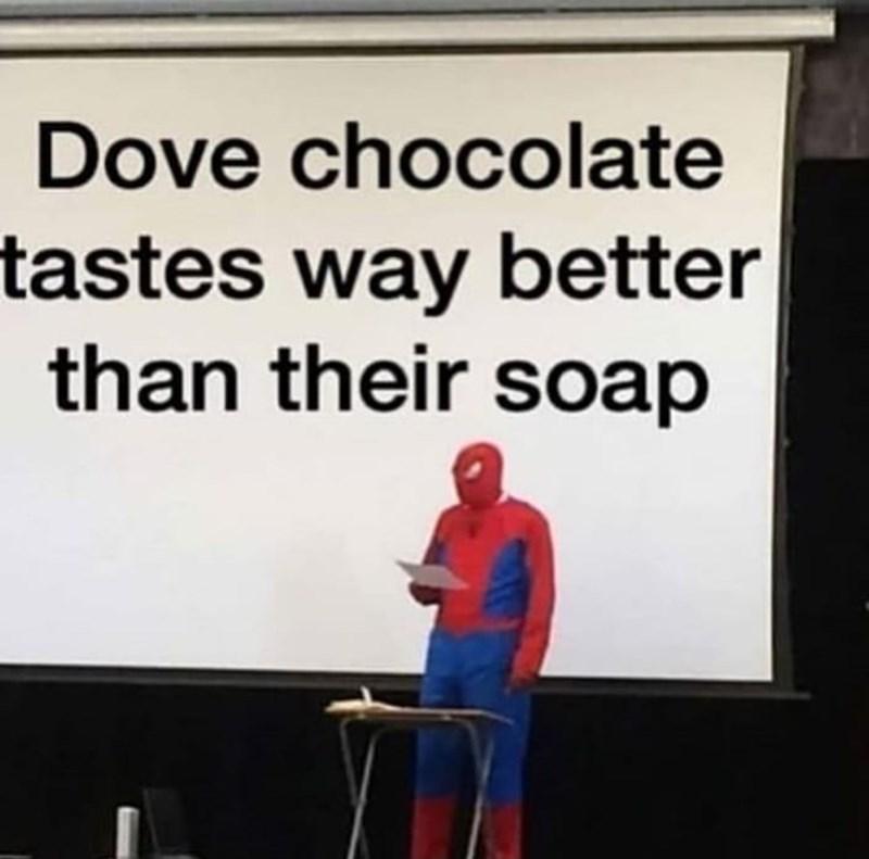 Presentation - Dove chocolate tastes way better than their soap
