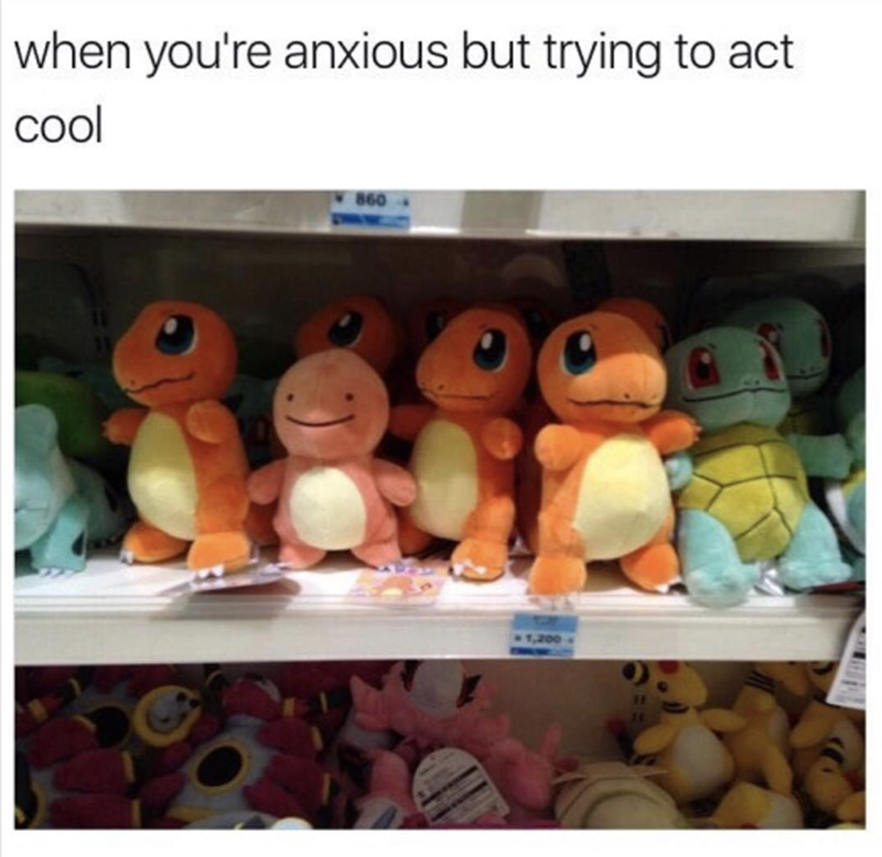 Stuffed toy - when you're anxious but trying to act col 860 1,200