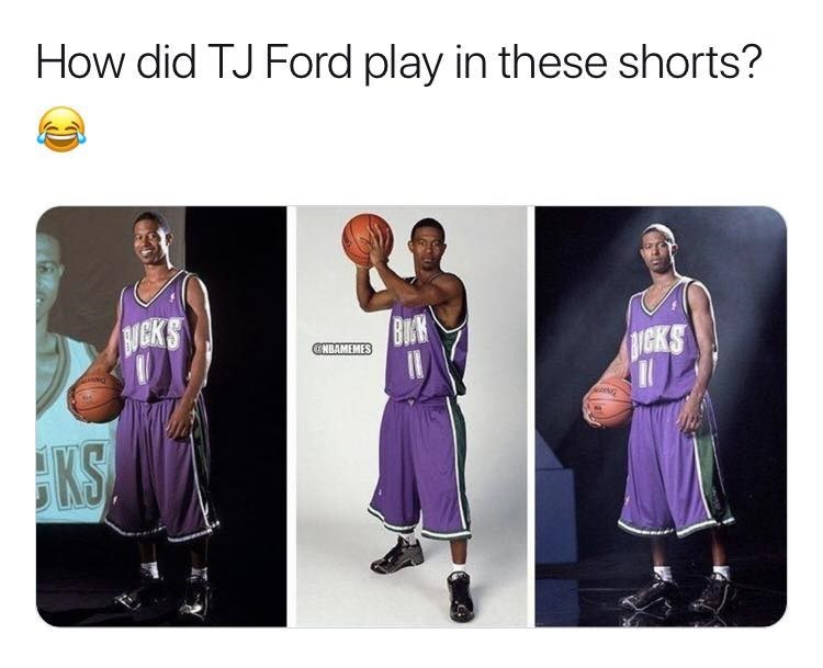 Clothing - How did TJ Ford play in these shorts? GKS BUK GNBAMEMES UGKS KS