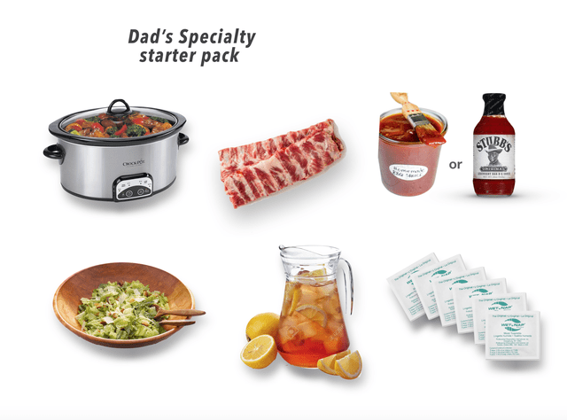 Food group - Dad's Specialty starter pack STUBBS or