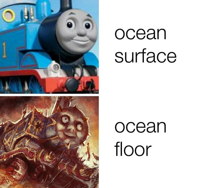 Thomas the tank engine - ocean surface ocean floor