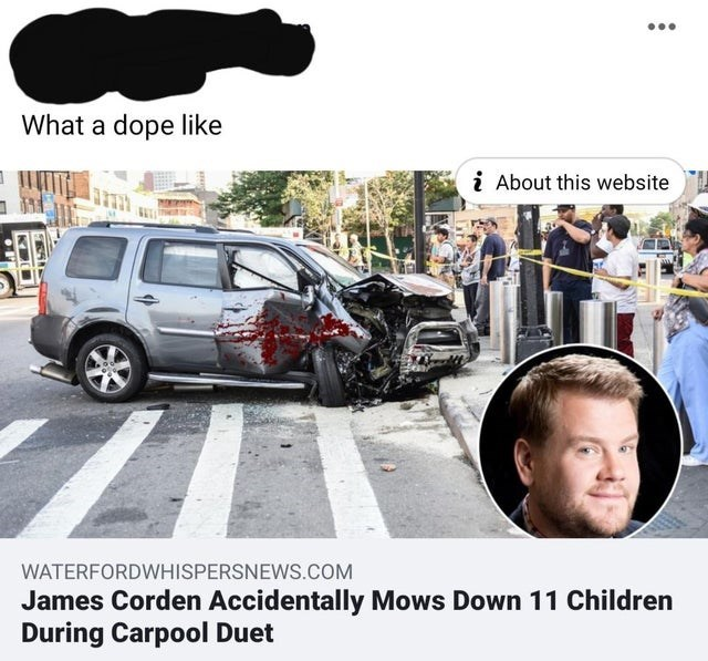 Motor vehicle - What a dope like i About this website WATERFORDWHISPERSNEWS.COM James Corden Accidentally Mows Down 11 Children During Carpool Duet
