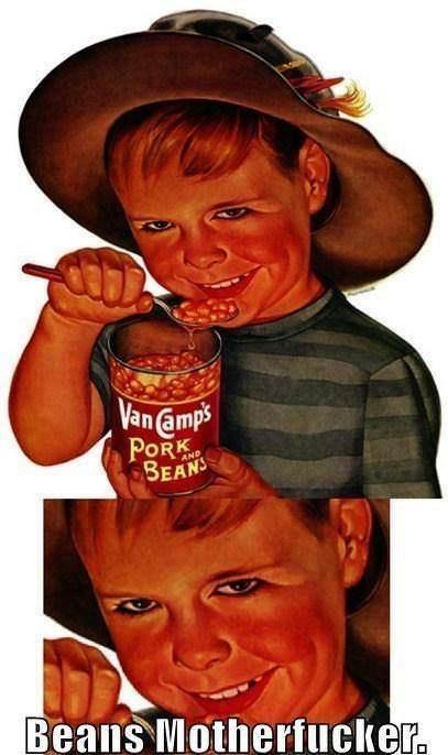 Vintage advertisement - Van amps PORK BEANS Beans Motherfucker.