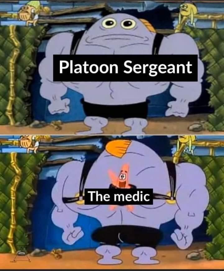 Cartoon - Platoon Sergeant The medic