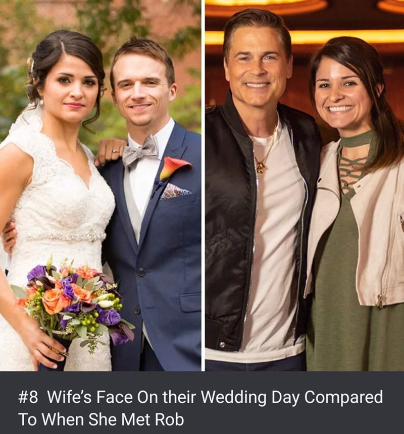 Facial expression - #8 Wife's Face On their Wedding Day Compared To When She Met Rob