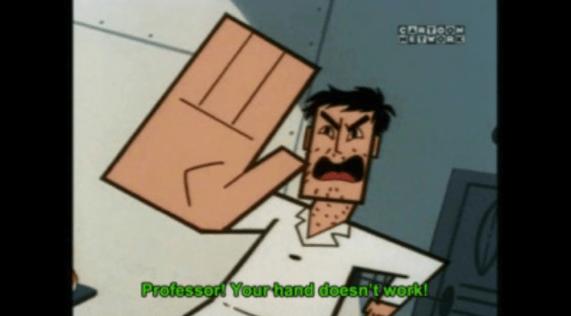 Cartoon - CORDO Professor Yourhand deesnt work!