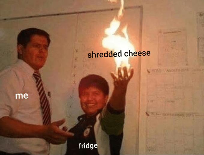 Fun - shredded cheese VEN NOTOa me fridge