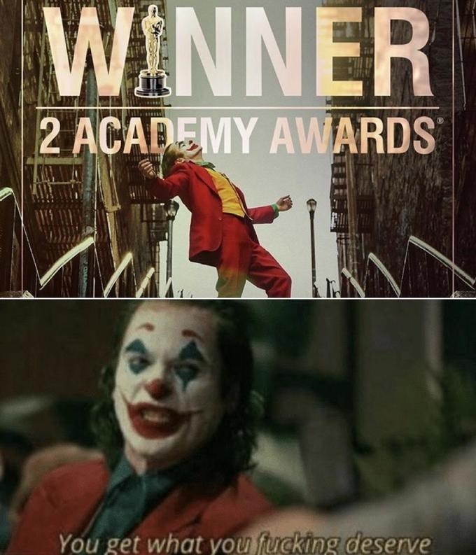 Comics - WINNER 2 ACADEMY AWARDS You get what you fucking deserve