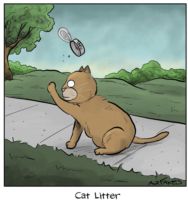 Cartoon - (-- NFAKES Cat Litter TUNA
