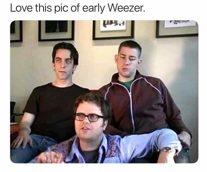 People - Love this pic of early Weezer.