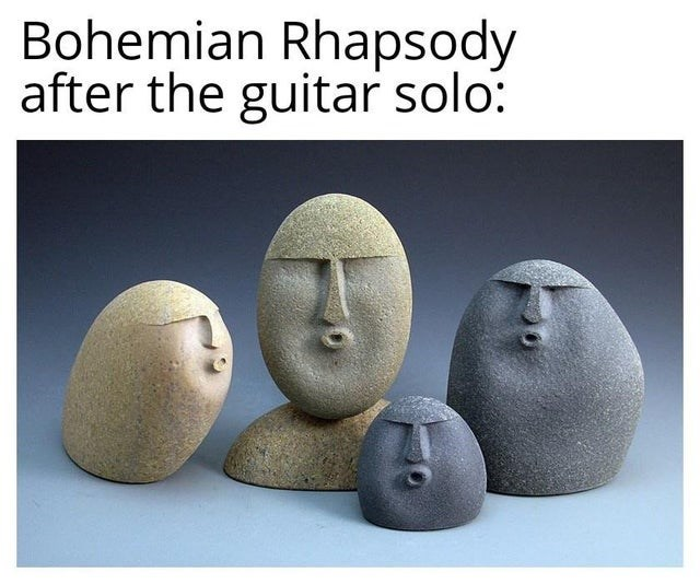 Text - Bohemian Rhapsody after the guitar solo: