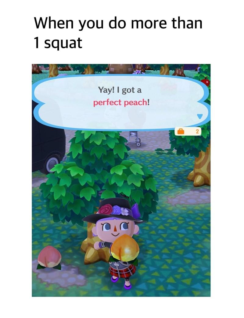 Cartoon - When you do more than 1 squat Yay! I got a perfect peach!
