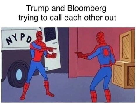Cartoon - Trump and Bloomberg trying to call each other out NYPO