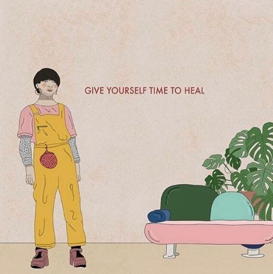 Wallpaper - GIVE YOURSELF TIME TO HEAL