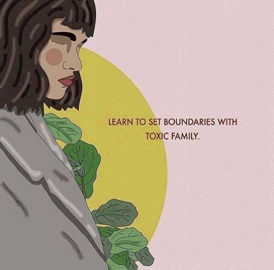Green - LEARN TO SET BOUNDARIES WITH TOXIC FAMILY.