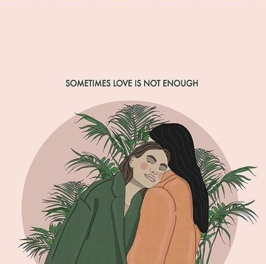 Illustration - SOMETIMES LOVE IS NOT ENOUGH